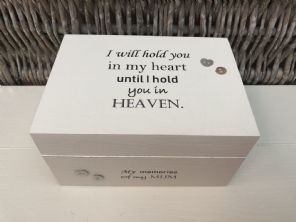 Personalised In Memory Of Box Loved One ~ MUM ~ MAM ~ any Name Bereavement Loss - 232737780856